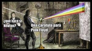que-hace-sr-newton-refleccion-de-la-luz-una-caratula-para-pink-floyd-memes